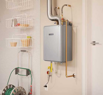 Call Ed Neir for tankless water heater installation.
